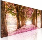 Schilderij Droom bos, roze, bruin  3 maten, 1 deel