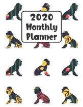 2020 Monthly Planner: Poodle Dog - 12 Month Planner Calendar Organizer Agenda with Habit Tracker, Notes, Address, Password, & Dot Grid Pages