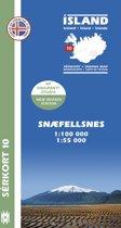 Island Serkort 10 Snaefellsnes 1 : 100 000 / 1 : 55 000
