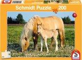 Puzzel Merrie met veulen 200 stukjes