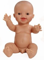 Paola Reina Gordi babypop bloot jongen lachende pop 34cm