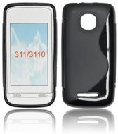 Image of Silicon Case Hoesje voor Nokia Asha 311 - S-Line Black (8719321041662)
