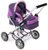 Bayer Chic 2000 Kleine Poppenwagen Smarty Purple Checker