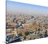 Skyline van Karachi Canvas 90x60 cm - Foto print op Canvas schilderij (Wanddecoratie woonkamer / slaapkamer)
