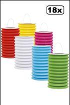 18x Lampion luxe recht 15 cm assortie kleuren