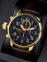 Calvaneo 1583 Calvaneo Vengalis Shinyblack Gold Horloge 45mm