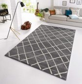 Design vloerkleed Rhombe - grijs/crème 200x290 cm