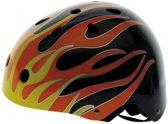 Ventura Freestyle Bmx Helm Zwart Met Vlammen Maat 58/61 Cm