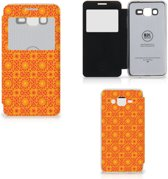 Samsung Galaxy Grand Prime Telefoon Hoesje Batik Orange