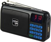 POWERplus Crow Solar FM Radio MP3 speler - opladen via USB of zonne-energie - duurzame rad