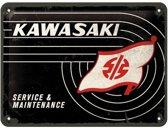 Wandbord - Kawasaki service -15x20-