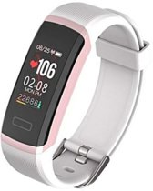 DrPhone V5 - Ladies Activity Tracker - Sporthorloge - IP67 Waterproof - Kleurenscherm - Professioneel Hartslagsensor 24/7 Hartslagmeter (Meting om de seconde) - Stappenteller - Slaapmonitor - Notificaties Social Media - Smartwatch voor Dames - Roze