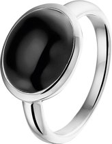 The Jewelry Collection Ring Onyx - Zilver
