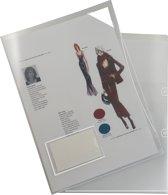 EXXO-HFP #34061 - A4 Insteekmap L-model m/Etiketvenster - Extra sterk - 180 mμ - Kleurloos - 10 Pakken @ 10 Stuks