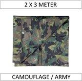 Afdekzeil Camouflage / Leger 2 x 3 meter (6m2)