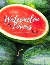 Watermelon Lovers 100 page Journal: Large notebook journal with 3 yearly calendar pages for 2019, 2020 and 2021 Makes an excellent gift idea for birth
