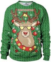 Kersttrui Cool Rendier (Groen) (M) - Foute Kersttrui (Maxxions)