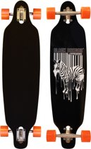 "Black Dragon Longboard 36"" Drop-through - Jungle Fever - Zwart/Wit/Fluororanje"