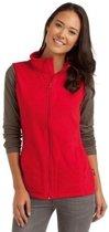 Fleece bodywarmer rood voor dames S (36)