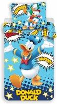 Disney Donald Duck Whoop - Dekbedovertrek - Eenpersoons - 140 x 200 cm - Blauw