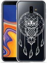 Galaxy J6 Plus Hoesje Dream Owl Mandala White
