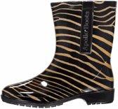 Halfhoge dames/meiden regenlaarzen zebra print maat 37 - Festival regenlaarsjes halfhoog