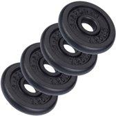 ScSports Halterschijven - 4x 1.25 kg - Ø 30.5 mm - zwart gietijzer