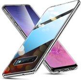 Samsung Galaxy S10 PLUS / Samsung Galaxy S10+  - hoesje met Tempered Glass achterkant bescherming - ESR – transparante achterkant - Hues Mimic