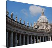Het Sint-Pietersplein in Vaticaanstad Canvas 30x20 cm - klein - Foto print op Canvas schilderij (Wanddecoratie woonkamer / slaapkamer)
