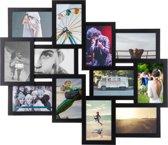 Multi 12 Fotolijst - Collagelijst - Zwart