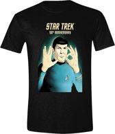 Star Trek - 50th Anniversary T-Shirt - Zwart - M
