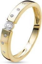 Twice As Nice ring in 18kt verguld zilver, zirkonia  54