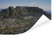 Prachtige uitzicht over Kaapstad en op de vlakke Tafelberg Poster 180x120 cm - Foto print op Poster (wanddecoratie woonkamer / slaapkamer) XXL / Groot formaat!
