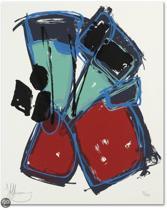 Claudia Hoffman Schilderij Zeefdruk 'Zonder titel' (9529)