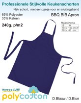 Homéé - Keukenschorten BBQ Apron navy blauw 240g. p/m2   Set van 2 stuks   70x100cm