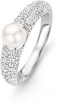 TI SENTO Milano Ring 12091PW - maat 19 mm (60) - Zilver witgoudverguld