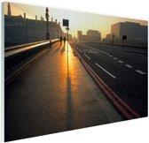 De Westminster brug bij zonsopgang Glas 180x120 cm - Foto print op Glas (Plexiglas wanddecoratie) XXL / Groot formaat!