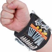 Magneet armband gereedschap verstelbaar unisex | Handige opberging voor uw gereedschap, schroeven, boor, spijkers etc. | 15 sterke magneten voor extra grip | Gereedschap armband voor de bouw, thuisklussen op hobby