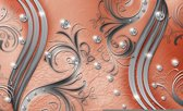 Fotobehang Modern | Zilver, Oranje | 416x254