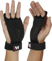 Leather Hand Grips 3 Hole - Gymnastic - DeadLifts - Weight Lifting - KettleBell Swings - Power Cleans - XL