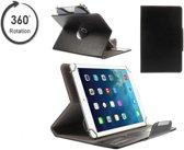 Tablet case met handige 360 graden draaibare Multi-stand, Slimfit hoes, rood , merk i12Cover