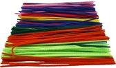 Chenille draad, dikte 4 mm, kleuren assorti, 300 assorti