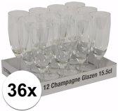 Champagne glazen 36 stuks