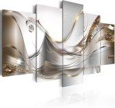Schilderij - Gouden Vlucht, 5luik