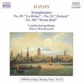 Haydn: Symphonies no 85, 92 & 103 / Capella Istropolitana