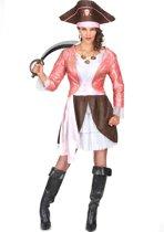 Roze piraten pak voor vrouwen - Verkleedkleding - Medium