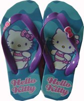 Blauwe slippers van Hello Kitty maat 31/32