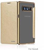 Xundd - Galaxy Note 8 Champagne Goud slim Crystal Folio Flip hoesje / book case