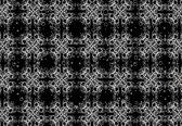 Fotobehang Modern Abstract Pattern Black White | XXL - 312cm x 219cm | 130g/m2 Vlies