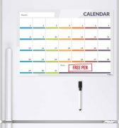 CKB Ltd® Magnetische Maandplanner - Kalender 31 dagen - Magnetische koelkast Maand planner - Whiteboard met gratis stift - 49 x 29cm - Memobord